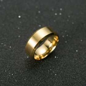 Кольцо из титатна желтое