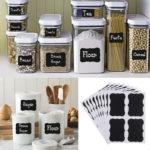 Многоразовые наклейки для кухонных баночек
