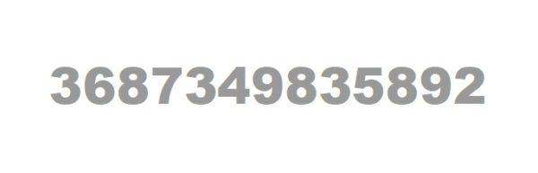 так выглядит трек-номер внутренних отправлений по Украине