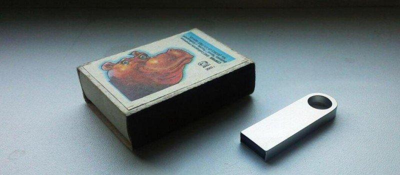 USB флешка металлическая