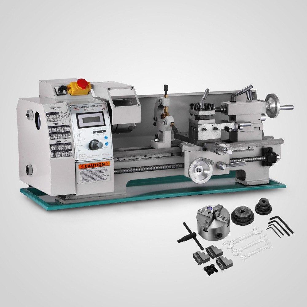 CFR 750 Вт 8x16 дюймов обработки металла переменной скорости токарный станок металла мини токарный станок