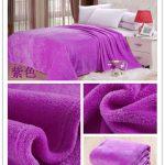 флисовое одеяло фиолетовое