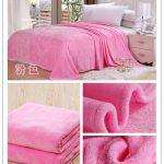 флисовое одеяло розовое