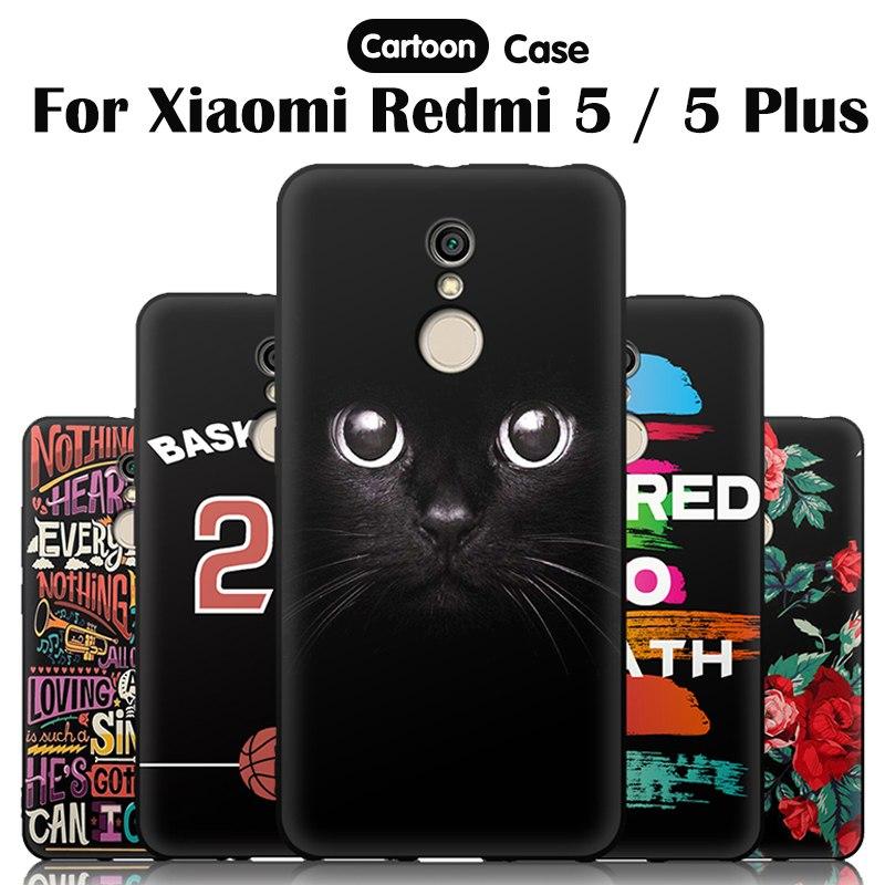 JURCHEN чехол для телефона для Xiaomi Redmi 5 5 плюс Чехол Мягкая силиконовая задняя крышка для Xiaomi Redmi 5 плюс Чехол Xiomi Redmi5 5 плюс милый