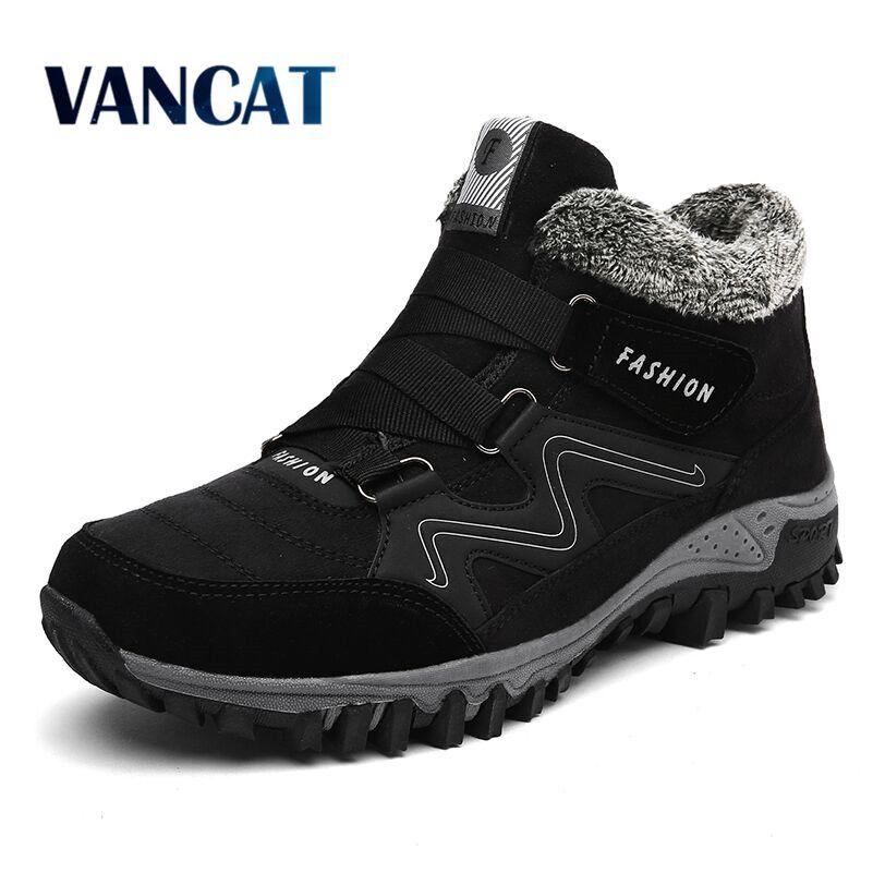 VANCAT/мужские зимние ботинки на меху, коллекция 2018 года, теплые зимние ботинки, мужские зимние ботинки, рабочая обувь, мужская обувь, модные ре...